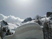Ландшафт зимы Snowy стоковая фотография