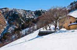 Ландшафт зимы Val Veddasca Стоковая Фотография