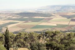 Ландшафт Израиля стоковые изображения rf