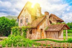Ландшафт имущества ферзя Мари Antoinette деревушки около Versail Стоковое Фото