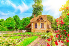 Ландшафт имущества ` s ферзя Мари Antoinette деревушки Стоковое Изображение RF