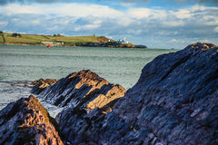 Ландшафт Ирландского. пробочка графства побережья береговой линии атлантическая, Ирландия стоковые фото