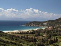 ландшафт Италии около solanas Сардинии Стоковое Изображение RF