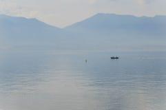 Ландшафт Италии на главном озере Стоковое Фото