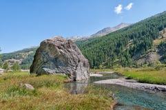 Ландшафт итальянских горных вершин Стоковые Фотографии RF