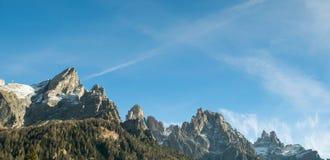 Ландшафт итальянских доломитов Стоковое Изображение