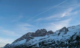 Ландшафт итальянских доломитов Стоковые Фото
