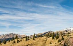 Ландшафт итальянских доломитов Стоковые Изображения