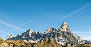 Ландшафт итальянских доломитов Стоковая Фотография