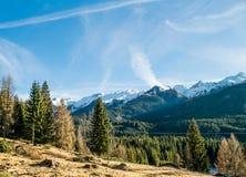 Ландшафт итальянских доломитов Стоковое фото RF