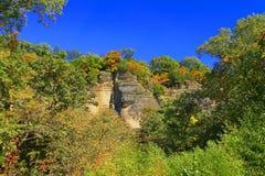 Ландшафт Иллинойс блефов Shawnee Стоковое Изображение