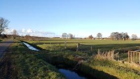 Ландшафт и облака в Голландии Стоковое Изображение RF