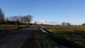 Ландшафт и облака в Голландии Стоковые Изображения RF