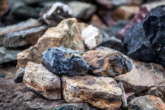 Ландшафт камней с побережья Антарктики Конец-вверх Стоковое Изображение RF
