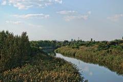 Ландшафт канала Стоковое Изображение