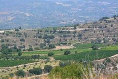 Ландшафт Кипра среднеземноморской Стоковое фото RF
