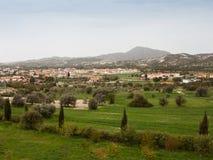 Ландшафт Кипра с горным видом Стоковое Фото