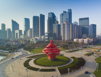 Ландшафт Китай побережья Qingdao стоковое фото rf