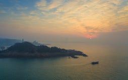 Ландшафт Китай побережья Qingdao стоковые изображения rf