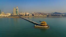 Ландшафт Китай побережья Qingdao стоковые фотографии rf