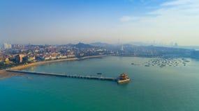 Ландшафт Китай побережья Qingdao стоковые изображения