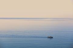 Ландшафт конспекта пейзажа и тумана моря с Стоковое Изображение