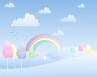 Ландшафт конфеты хлопка Стоковые Изображения