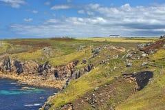 Ландшафт конца земли в Корнуолле Англии Стоковое Фото