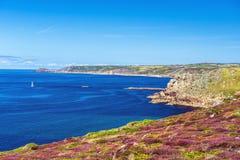 Ландшафт конца земли в Корнуолле Англии Стоковые Фото