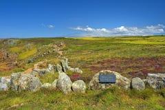 Ландшафт конца земли в Корнуолле Англии Стоковое фото RF