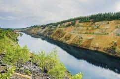 Ландшафт красивого лета промышленный Стоковая Фотография RF