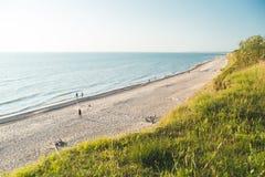 Ландшафт красивого побережья Балтийского моря Стоковое Изображение