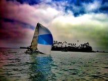 Ландшафт Лонг-Бич Калифорнии Стоковое Изображение RF
