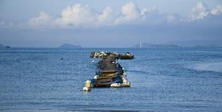 Ландшафт морем с голубым небом в Китае Стоковое Фото