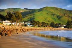 Ландшафт моря и зеленых холмов Стоковое фото RF