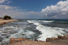 Ландшафт моря, Крит Analipsi стоковые изображения rf