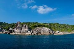 Ландшафт моря моря andaman Стоковое фото RF