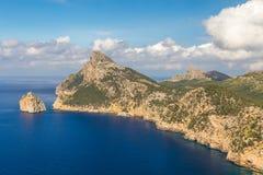 Ландшафт моря на накидке Formentor, Майорке, Испании Стоковые Изображения RF