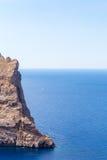 Ландшафт моря на накидке Formentor, Майорке, Испании Стоковые Фотографии RF