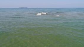 Ландшафт моря отмелый с волной видеоматериал