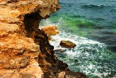 Ландшафт моря пейзажа с утесами Стоковая Фотография
