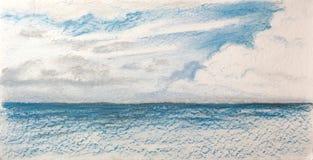 Ландшафт моря после дождя Стоковое Фото