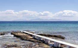 Ландшафт моря с горизонтальной дорожкой Стоковые Изображения