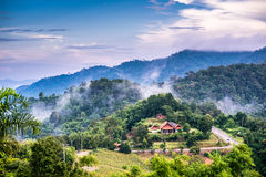 Ландшафт национального парка в Nan, Таиланде Стоковые Фотографии RF