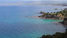 Ландшафт национального парка полуострова Akamas, Кипра видеоматериал