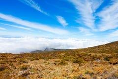 Ландшафт национального парка Haleakala, Мауи, Гаваи Стоковое Изображение RF