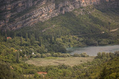 Ландшафт национального парка KRKA Стоковая Фотография RF