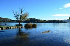 Ландшафт на озере Orta, Италии Стоковые Фото