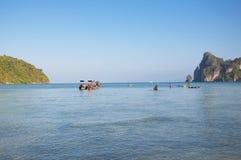 Ландшафт на острове Phi Phi, Таиланде, провинции Krabi Стоковые Фотографии RF