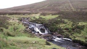Ландшафт на полуострове Trotternish, Шотландии видеоматериал